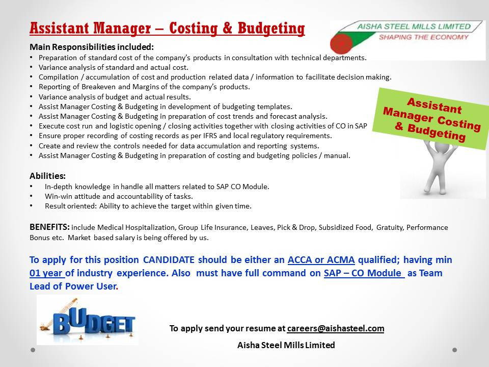a.m costing  budgeting